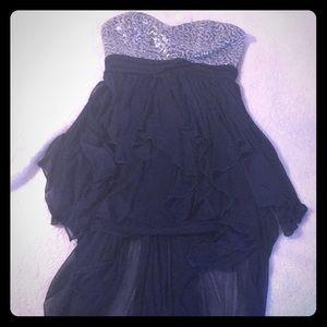 Dual length sequin dress
